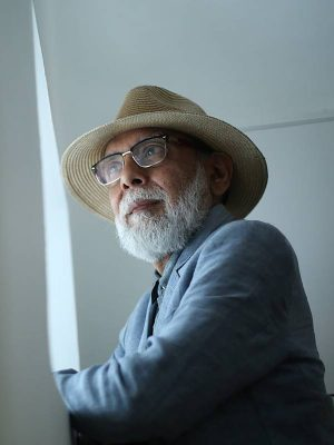 Artist Ranbir Kaleka, photographed at the Vadhera Art Gallery, New Delhi. Express Photo by Tashi Tobgyal 130319